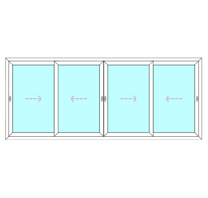 4 Panel, 4 Slide