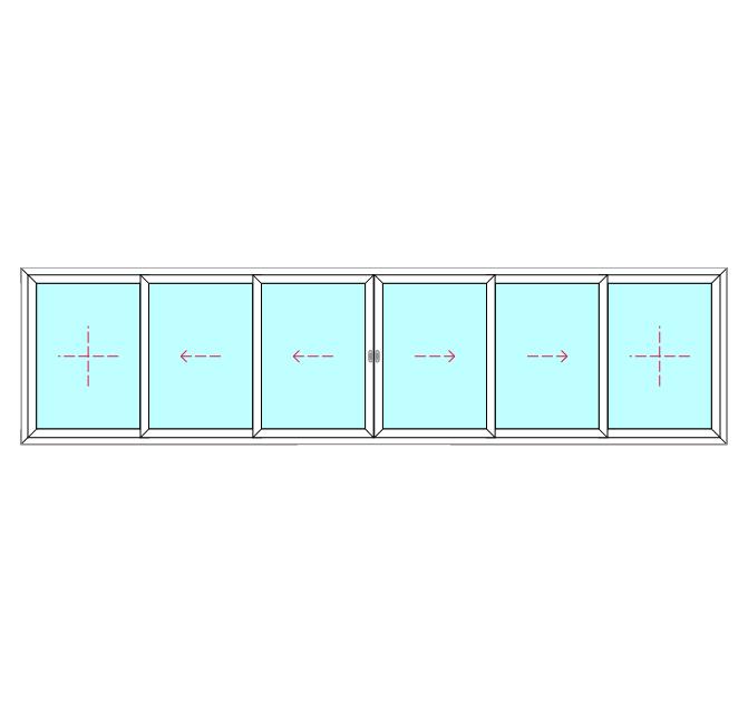 6 Panel, 4 Slide