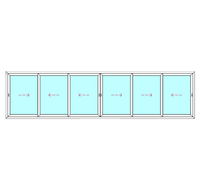 6 Panel, 6 Slide