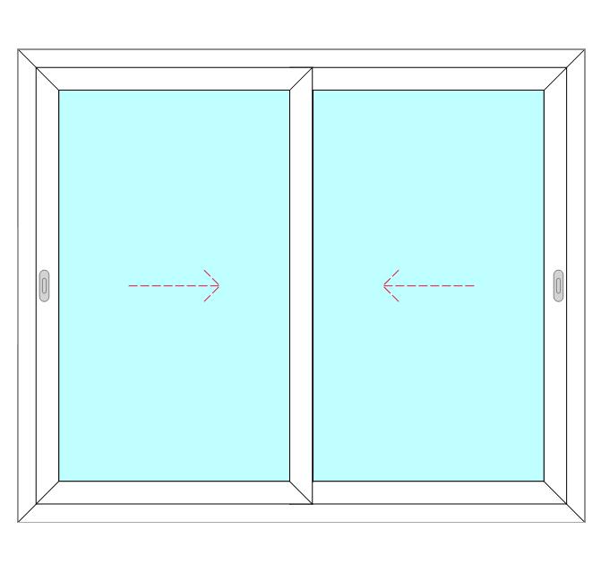 2 Panel, 2 Slide