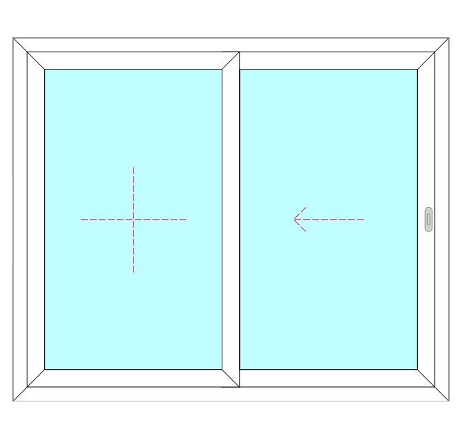 2 Panel, Single Slide