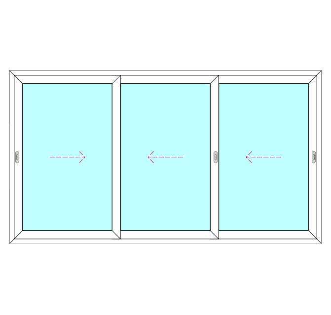 3 Panel, 3 Slide