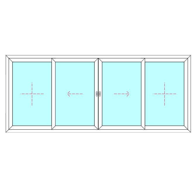 4 Panel, 2 Slide